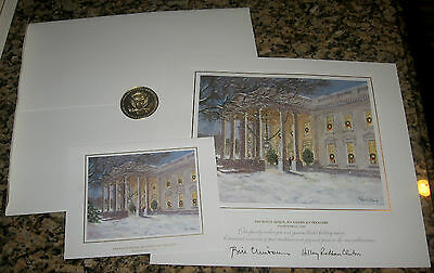 *BRAND NEW* 1999 SET White House OFFICIAL Christmas Card LARGE + SMALL Clinton
