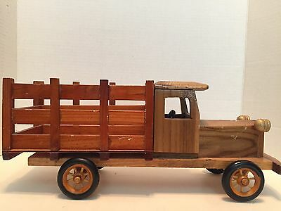 """Vintage Handmade Wooden  Delivery Truck 15"""" x 6.5"""""""