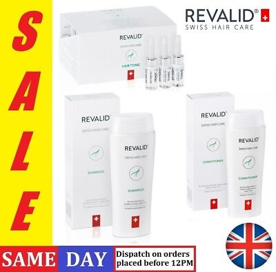 REVALID SWISS HAIR Care Shampoo Conditioner Capsules Anti Hair Loss ... 7d9a27e4dea