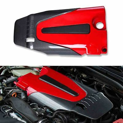 Carbon Fiber Style Engine Protector Cover For 16-17 Honda Civic 10th Gen X 1.5L