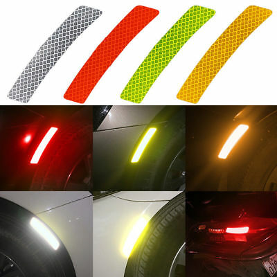 2Pcs/Set Safety Reflective Warning Strip Tape Decals Car Bumper Stickers Decor