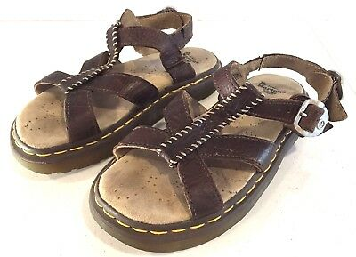 e3f0dc1db921 Women s 6 Dr Doc Martens Brown Leather Fisherman Gladiator AirWair Sandals  Shoes