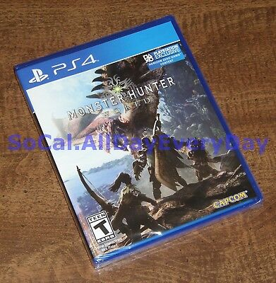 Monster Hunter World (PlayStation 4) BRAND NEW & FACTORY SEALED! ps4