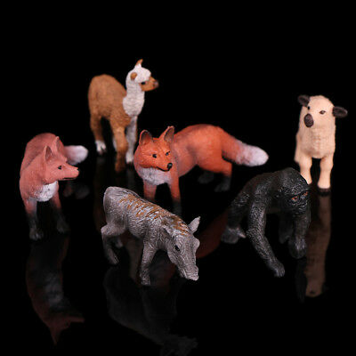 Realistic red fox wildlife zoo animal figurine model figure for kids toy gifts H