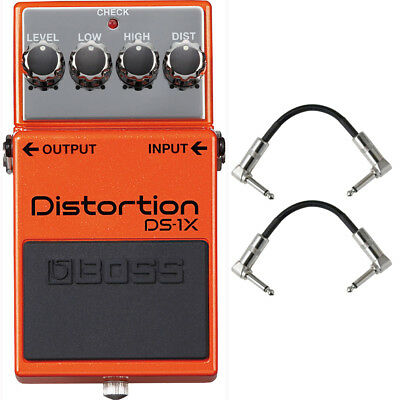 Boss DS-1X Distortion Pedal with Patch Cables