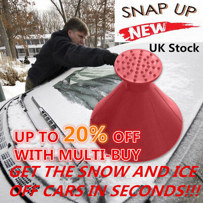 Magic Car Windshield Ice Scraper Tool Cone Shaped Round Funnel Remover Snow UK N