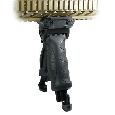 Tactical Foldable Bipod Foregrip Rotating Grip 20mm Picatinny Rail        Swivel