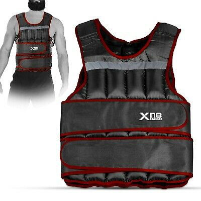 XN8 Weighted Vest Adjustable Gym Training Running Fitness Weight Loss Jacket UK