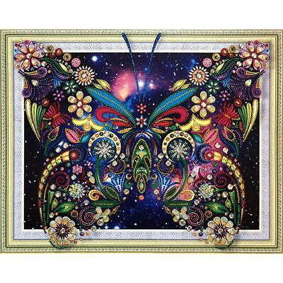 5D DIY Part Drill Special-shaped Diamond Painting Butterfly Cross Stitch 40*50cm