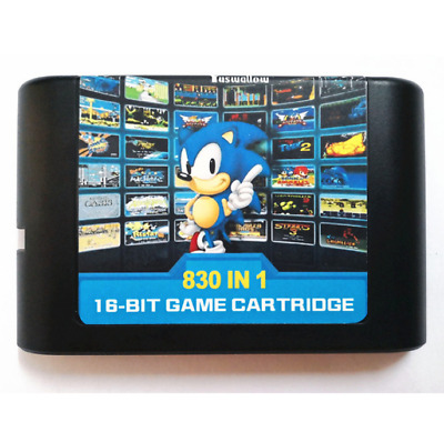 Sega Megadrive 830 in 1 16 Bit Game Cartridge For Megadrive Multi Cart Retro