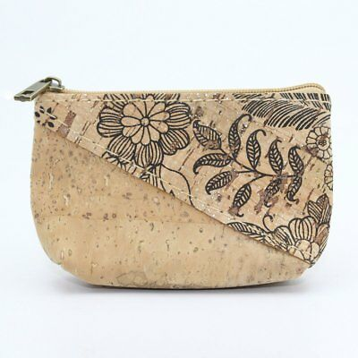 Women's coin and card purse Vegan and Eco friendly sustainable cork 3 colours