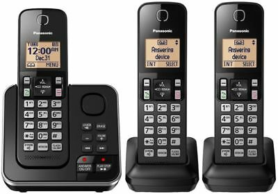 Panasonic DECT 6.0 Cordless Home Phone 3 Handset Answering System Caller ID
