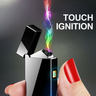 Metal Double Arc USB Electric Lighter Plasma Windproof Electronic Lighter k0PM