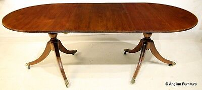Georgian Style Twin Pedestal Dining Table FREE Nationwide Delivery