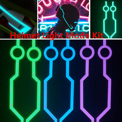 Good-looking FOR Motorcycle Helmet Flashing Light LED Strip Bar Easy Install DIY