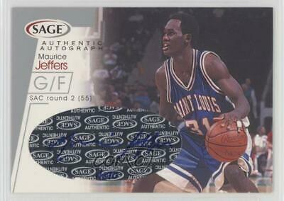 2001-02 Sage Autographs Silver #A21 Maurice Jeffers St. Louis Bombers Auto Card