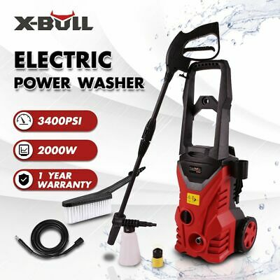X-BULL 3800 PSI Electric High Pressure Water Cleaner Washer Gurney Pump Hose 8M