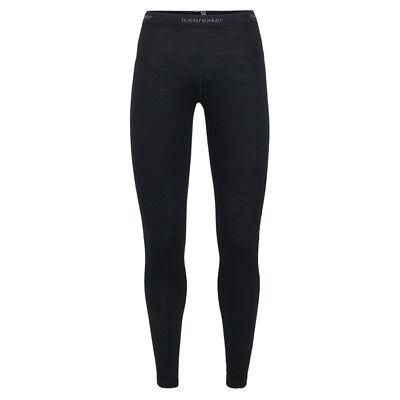 icebreaker - 200 Oasis Leggings Women - black - Damen Wollunterwäsche- Merino