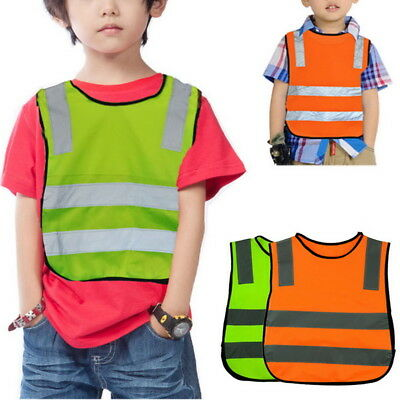 Kids Reflective Vest Coat Cycling Safety Fluorescent Clothing Road Traffic