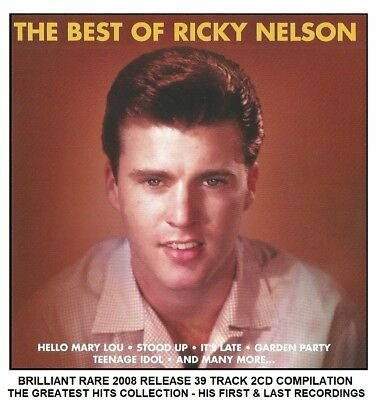 Ricky Nelson - The Very Best Greatest Hits Collection - RARE 2CD 50's 60's R&R