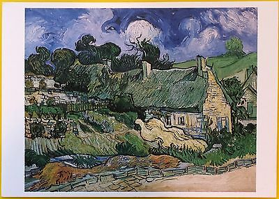 VAN GOGH Post Card: Thatched Cottages at Cordeville, 1890 - Brand New