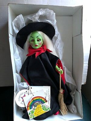 """Vintage 1984 Effanbee Wizard Of Oz Green Wicked Witch 11"""" Doll"""