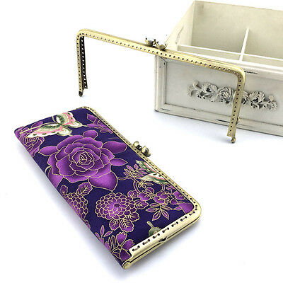 1 X Metal Square Coin Purse Frame Wallet Bag Clasp DIY Accessory Sewing 8.5cm