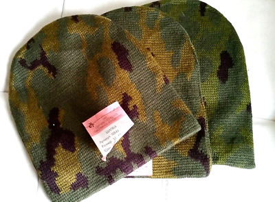 Lot x 3 Rus army winter wool hat Camo army issued original with tag/stamp