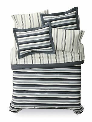Mainstays 7 Piece Darby Stripe Bedding Set, King Striped Made of 100% Polyester