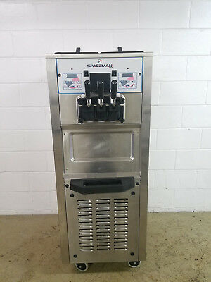 Spaceman 6250 Ice Cream Machine Air Cooled 2 Flavor + Twist Tested 220v