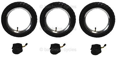 3 x Phil & Teds NAVIGATOR Off Road PUNCTURE PROTECTED Pram Tyres & Tubes Set