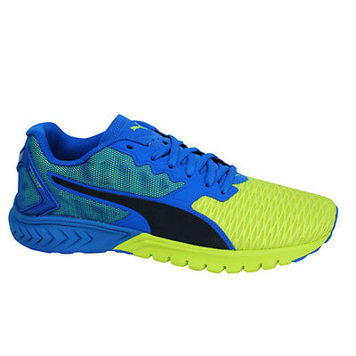 d19583a6412 Puma Ignite Dual Blue Yellow Lace Up Mens Sports Fitness Trainers 189094 02  P5
