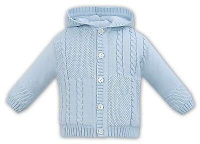 Sarah Louise Boy's Knitted Cardigan with hood