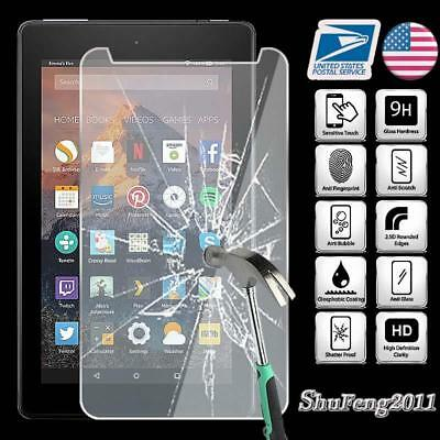 Tablet Tempered Glass Screen Protector Cover For Amazon Fire 7 (7th Gen 2017)