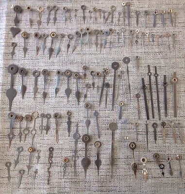 Antique Clock Hands Job Lot Approx 107 Assorted Pairs And  Singles