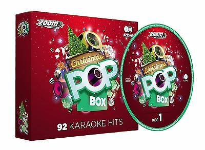 Zoom Karaoke Christmas Pop Box 4 Disc Party Pack CD + G New Sealed
