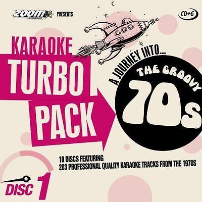 Zoom Karaoke Turbo Pack A Joruney Into The Groovy 70s CD+G 10 Discs New Sealed