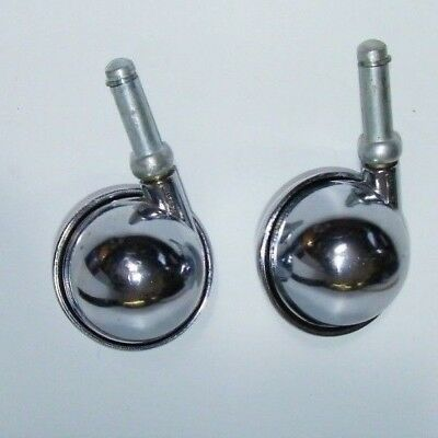 "Vintage  Swivel Wheel  Casters - 2 1/2 BALL ""  ROUND diameter STEM LENGTH 1.1/ 4"