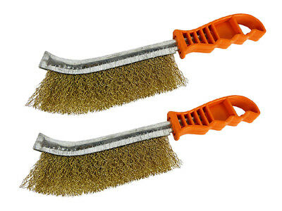 Wire Brush Rust Remover Spid Brass Brush Paint Cleaning 2 PACK