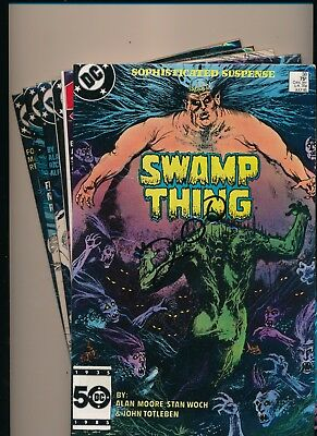 Dc Lot Of 6 Swamp Thing 1985 '86 &'87 #38/46/53/56/57/59   Fine/very Fine(Pf40)