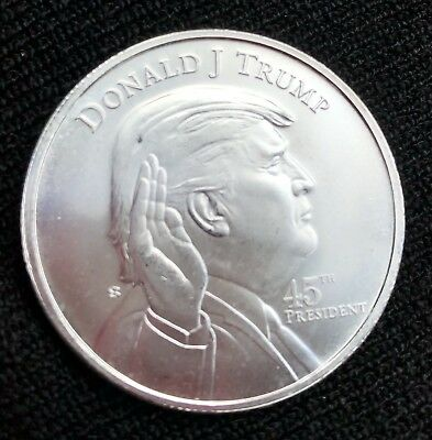 President Donald Trump 1 oz .999 silver coin swearing in at the White house 45th