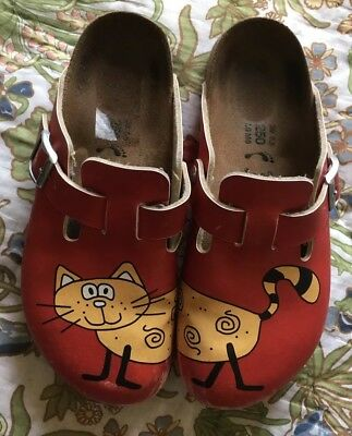 e51e5006acf7 BIRKIS BY BIRKENSTOCK Cat Clogs Mules Women s Size 8 Red Color ...