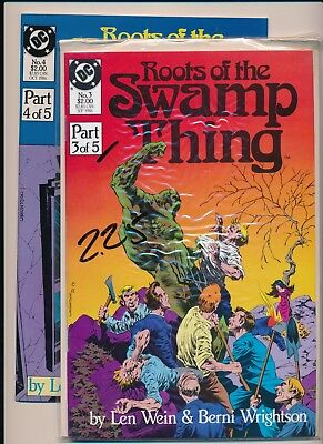 DC LOT OF 2-ROOTS OF THE SWAMP THING  Part 3 & 4 of 5 part series (PF47)