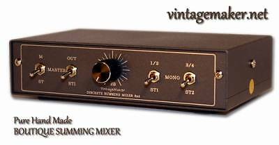 Summing Mixer 8 In 4 out 21step precision headroom control full balanced passive