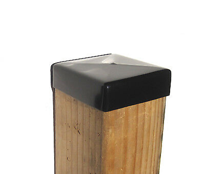 """Vinyl End Cap For 4x4 Wood Post Stud Cover (3-1/2"""" x 3-1/2"""") Rubber 3.5"""""""