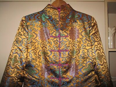 Vintage  Chinese  Gold Brocade  Jacket  Large  Excellent Condition