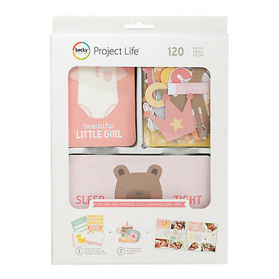 Project Life LULLABY GIRL VALUE KIT (120pc) 380809 BABY PINK GREEN YELLOW