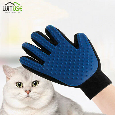 Deshedding Grooming Glove Gentle Pet Clean Massage Brush Dog Cat Hair Remover