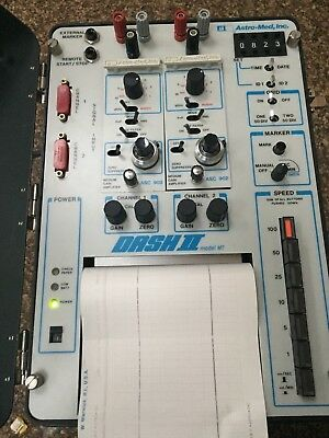 Astro-Med Dash II Model MT 2-Channel Recorder, Carrying Case, Manuals and Cables