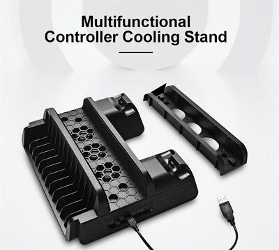 PS4 / Slim / Pro Console Multi-Function Dock Cooling Base Dual Joystick Charger